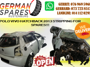 POLO VIVO HATCHBACK 2013 STRIPPING FOR SPARES!!!
