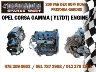 OPEL CORSA GAMMA ( Y17DT) ENGINE AVAILABLE