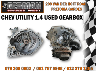 CHEV UTILITY 1.4 USED GEARBOX AVAILABLE