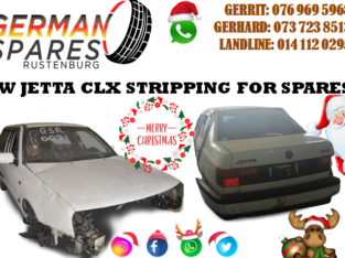 VW JETTA CLX – STRIPPING FOR SPARES!!!