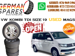 VW KOMBI TDI ZISE 19 USED MAGS FOR SALE!!!