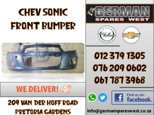 CHEV SONIC NEW FRONT BUMPER