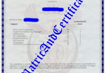 Get your matric certificate, diploma, degree, …