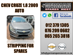 CHEV CRUZE 1.8 2009 STRIPPING FOR SPARES