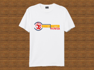 UNRESTRICTED POWER branded T-shirts