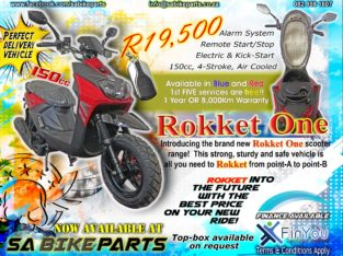 New ROKKET ONE 150cc Scooters!