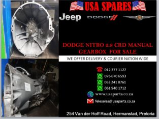 DODGE/ NITRO 2.8 CRD/ MANUAL GEARBOX/ FOR SALE/ USA SPARES