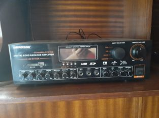 Sound system with amp and basebin for sale price R3000 neg