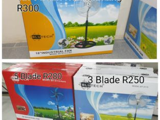 18 inch metal blade fans for sale from R250