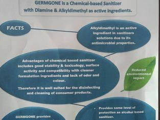 Sanitation/fumigation.manufacture of CHEMICAL BASED Sanitizers
