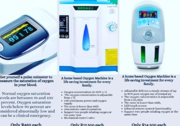 Oximeter and Oxygen Machines