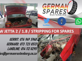 JETTA 2 / 1.8/ STRIPPING FOR SPARES!!!