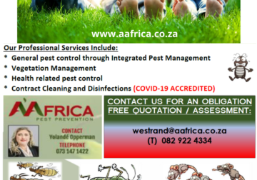 COVID 19 DISINFECTION AND PEST PREVENTION