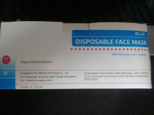 Medical & Non Medical 3 Ply Disposable & Fabric Masks for sale