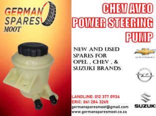 CHEV AVEO NEW POWER STEERING PUMP FOR SALE