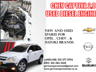 CHEV CAPTIVA 2.0 USED ENGINE FOR SALE