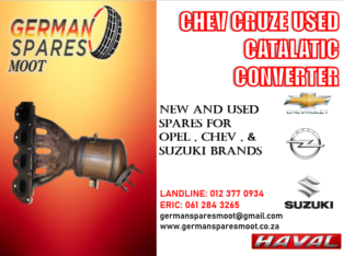 CHEV CRUZE F18D4 – USED CATALLATIC CONVERTER FOR SALE