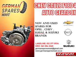 CHEV CRUZE F18 AUTO GEARBOX FOR SALE