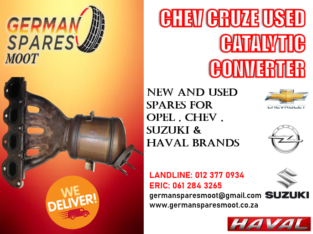 CHEV CRUZE – USED CATALYTIC CONVERTER FOR SALE