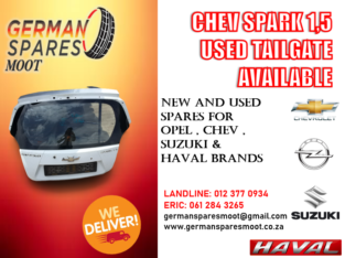 CHEV SPARK 1.5 USED TAILGATE AVAILABLE