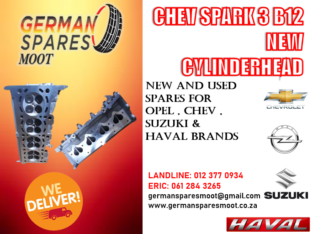 CHEV SPARK 3 – NEW CYLINDER HEAD FOR SALE