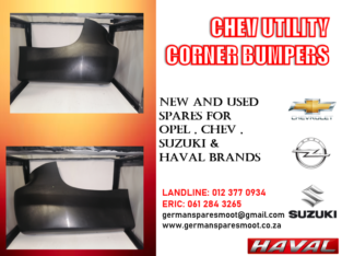 CHEV UTILITY – NEW CORNER BUMPERS FOR SALE