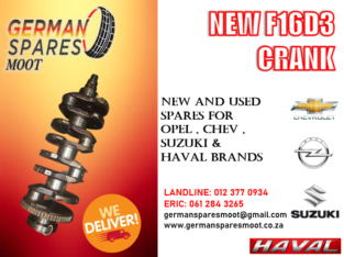 F16D3 – NEW CRANK FOR SALE