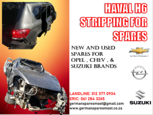 HAVAL H6 STRIPPING FOR SPARES
