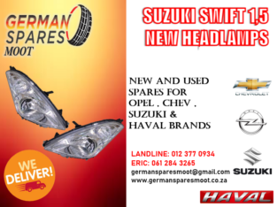 SUZUKI SWIFT NEW HEADLAMPS FOR SALE