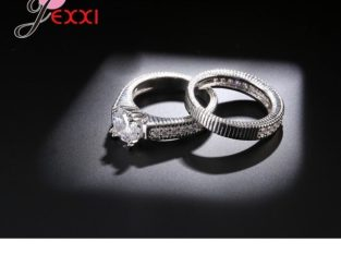 Classic Romantic Rings Sets Wedding Engagement Timbre