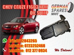 CHEV CRUZE F16D3 NEW OIL SUMP FOR SALE