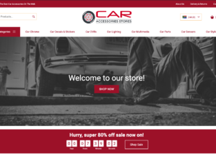 Your Own Store in 24HOURS!! CarAccessoriesStore | 200+ Products