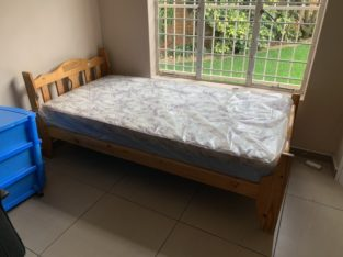 Solid Pine Bed base and mattress