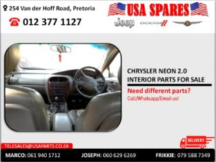 CHRYSLER NEON 2.0 USED INTERIOR PARTS FOR SALE