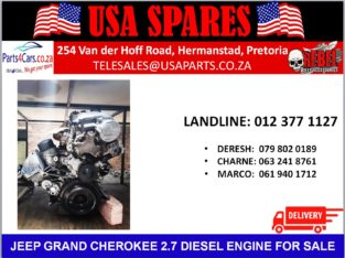JEEP/GRAND CHEROKEE/2.7 WJ /DIESEL/ENGINE/FOR SALE/USA SPARES