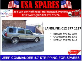 JEEP COMMANDER 5.7 STRIPPING FOR SPARES