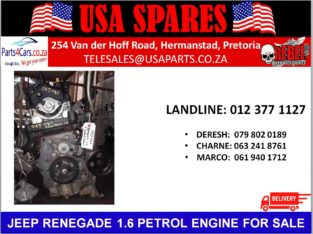 JEEP/ RENEGADE 1.6/ PETROL/ ENGINE/ FOR SALE/ USA PARTS/SPARES
