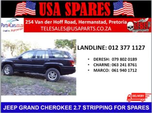JEEP GRAND CHEROKEE 2.7 STRIPPING FOR SPARES