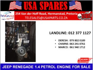 JEEP/ RENEGADE 1.4/ PETROL/ ENGINE/ FOR SALE/ USA PARTS/SPARES