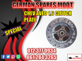 CHEV AVEO 1.6 CLUTCH PLATE NEW PART AVAILABLE
