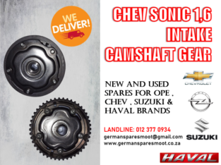 CHEV SONIC 1.6 – INTAKE CAMSHAFT GEAR AVAILABLE