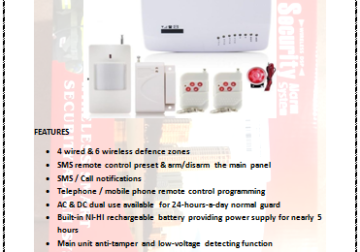 Wireless Security Alarm System