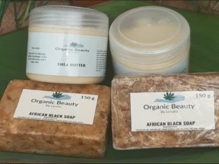 African black soap and Shea butter