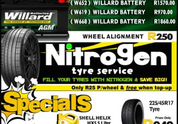 Save Big on Willard Batteries, Nitrogen Tyre Service!