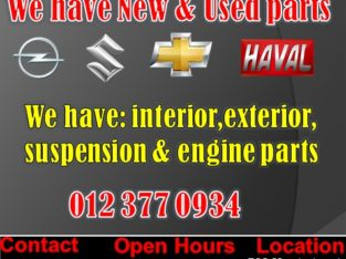 NEW AND USED SPARE PARTS AVAILABLE
