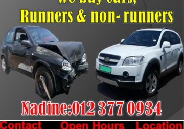 WE BUY ACCIDENT DAMAGED CARS ( DEAD OR ALIVE)