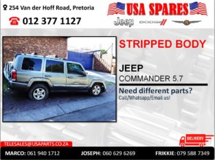 JEEP COMMANDER STRIPPED & NEW BODY PARTS/SPARES FOR SALE