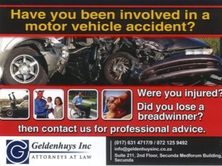 Have you or a loved one been involved in a Motor Vehicle Accident
