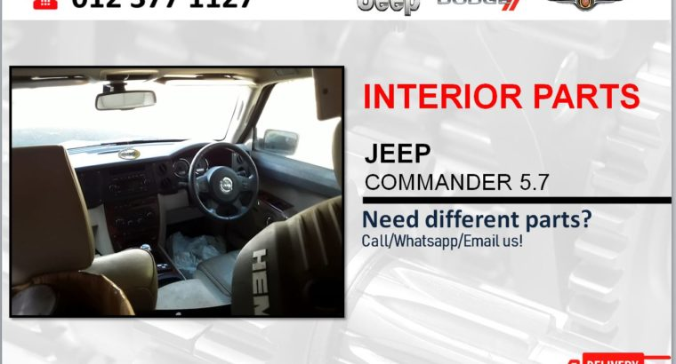 JEEP COMMANDER 5.7 NEW & USED INTERIOR SPARES/PARTS