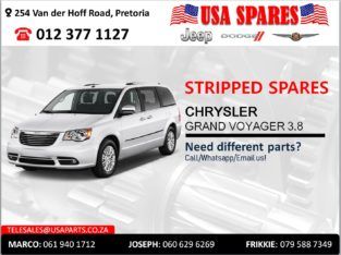CHRYSLER GRAND VOYAGER 3.8 STRIPPED SPARES FOR SALE